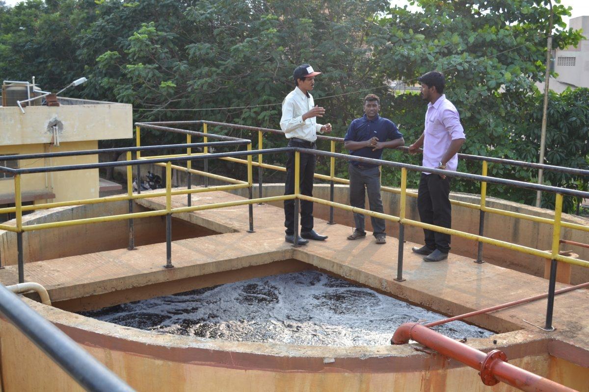 現地法人日吉インディアの生活排水処理施設