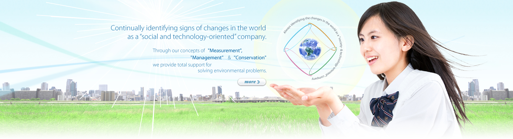 "Continually identifying signs of changes in the world as a""social and technology-oriented""company.